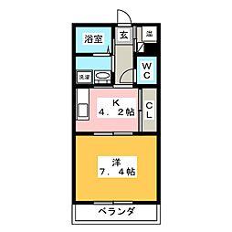 アビタシオンII[4階]の間取り