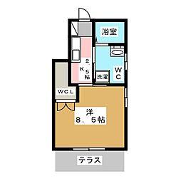BBALoge-Kamida[1階]の間取り