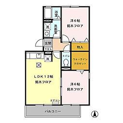 ロイヤルガーデン稲里(稲里町中央)D棟[101号室号室]の間取り