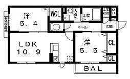 仮)シャーメゾン宮町1丁目計画[201号室号室]の間取り