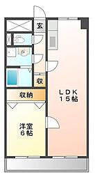 ベル上甲子園[4階]の間取り