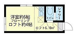 ユナイト 鶴見メトロポリターナの杜[1階]の間取り