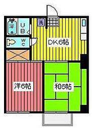コスモハイツ元郷[2階]の間取り