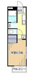 東京都東村山市栄町2丁目の賃貸アパートの間取り