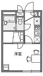 神奈川県川崎市麻生区上麻生5丁目の賃貸アパートの間取り