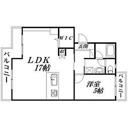 静岡県浜松市中区葵西2丁目の賃貸マンションの間取り