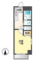 愛知県名古屋市中村区草薙町1の賃貸マンションの間取り