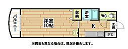 福岡県北九州市八幡東区前田2の賃貸マンションの間取り