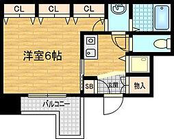 アクアプレイス東天満[9階]の間取り