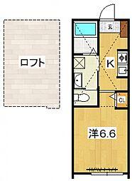 PACIFIC OCEAN KOZU[A4号室号室]の間取り