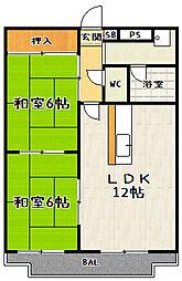 メゾンエイコー瀬田[2階]の間取り