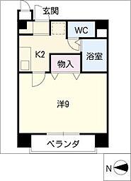 ヤマサン大橋通ビル[3階]の間取り