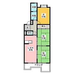 メゾン兜山II[3階]の間取り