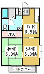 パークハイツヨコテ[1階]の間取り