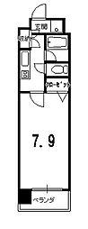 プラネシア星の子京都御所[705号室]の間取り