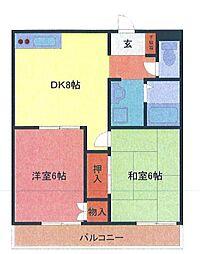 埼玉県さいたま市緑区東浦和7の賃貸マンションの間取り