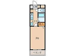 A&Sコーポ[1階]の間取り