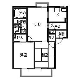ハイツ西取石[2階]の間取り