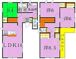 クレイドルガーデン足立区佐野第7 3号棟[2階]の間取り