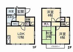 山口県下関市熊野町2丁目の賃貸アパートの間取り