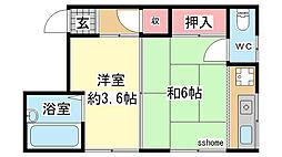 澤田ハイツ[2号室]の間取り