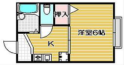 大阪府茨木市総持寺駅前町の賃貸アパートの間取り
