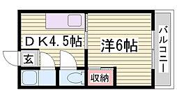大成マンション[4階]の間取り