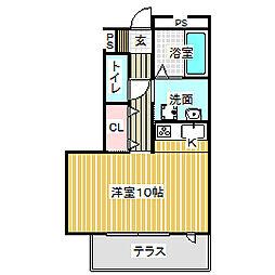 愛知県名古屋市中村区押木田町2丁目の賃貸マンションの間取り