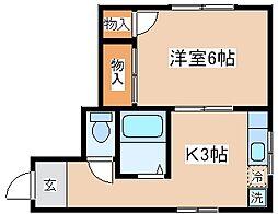 兵庫県神戸市兵庫区中道通7丁目の賃貸マンションの間取り