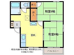 タウニィやまきA棟[1階]の間取り