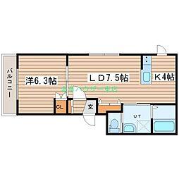 LUCY HOUSE ルーシーハウス 3階1LDKの間取り