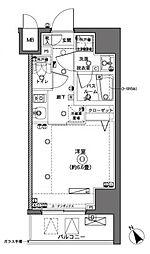 横浜市営地下鉄ブルーライン 横浜駅 徒歩10分の賃貸マンション 6階1Kの間取り