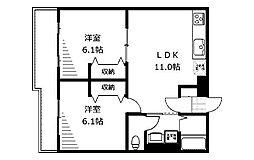 フラット福寿第8[1階]の間取り