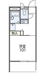 フローラI[3階]の間取り