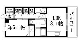 兵庫県宝塚市仁川団地の賃貸マンションの間取り