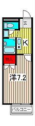 埼玉県川口市赤井4丁目の賃貸アパートの間取り