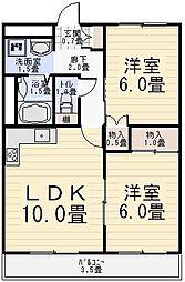 ロイヤルパークマンションB棟[B307号室]の間取り