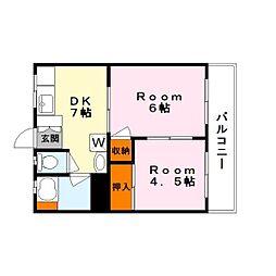 グリーン荘[2階]の間取り