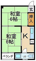 大阪府寝屋川市音羽町の賃貸マンションの間取り