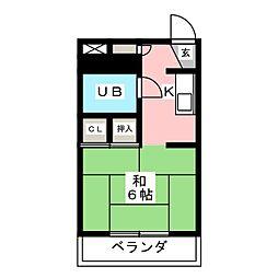 コーポ東橋良[1階]の間取り