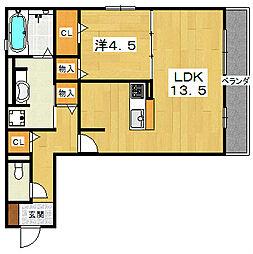 メゾン倉治[2階]の間取り