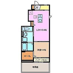 三重県鈴鹿市北玉垣町の賃貸アパートの間取り