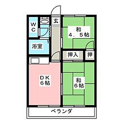 パナハイツ室岡[2階]の間取り