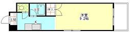 ドミール21EAST[4階]の間取り