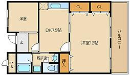 パブリックマンション[4階]の間取り
