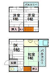 [テラスハウス] 大阪府茨木市下中条町 の賃貸【/】の間取り
