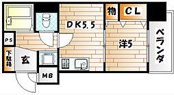 ライオンズマンション三萩野駅前[2階]の間取り
