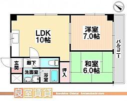 愛知県名古屋市南区明治1の賃貸マンションの間取り