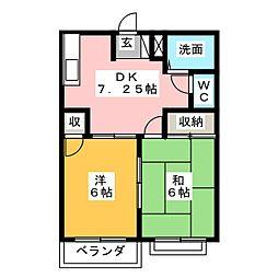 グリーンタウンA[2階]の間取り
