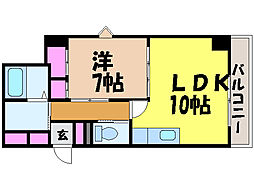 愛媛県松山市御幸2丁目の賃貸マンションの間取り